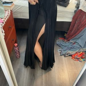 Long black skirt  great quality fabric and brand